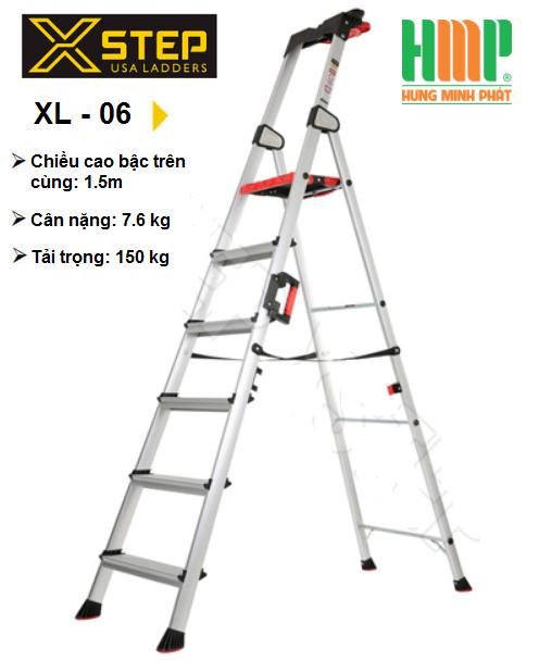 hugotech.vn nơi bán thang nhôm ghế XSTEP XL-06